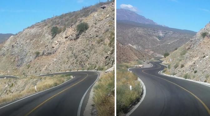 Der Abhang zur Hölle - der steilste Streckenabschnitt auf der Mex1